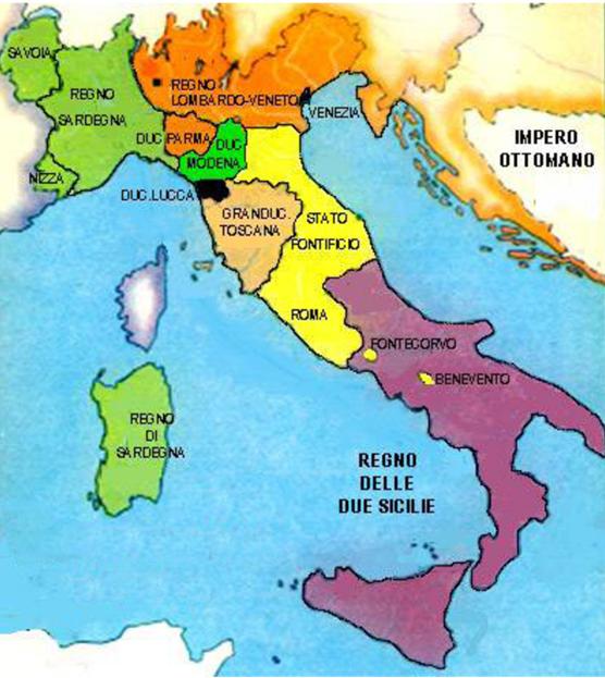 Cartina Geo Politica Italia.Carta Geopolitica Dell Italia Nel 1840